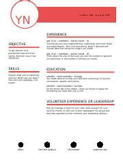 Polished Resume Designed By Moo Dotx Yn Your Name Experience Job Title Company Dates From To Polished Resume Templates