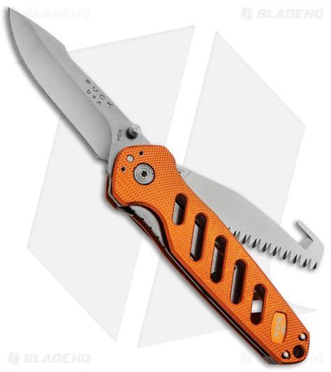 buck alpha crosslock buck 183 alpha crosslock knife orange w saw gut hook