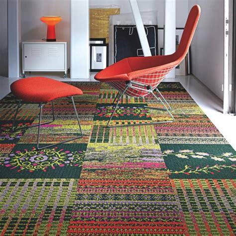 Rug Floor Tiles by Cut Flowers Carpet Tile In Geranium