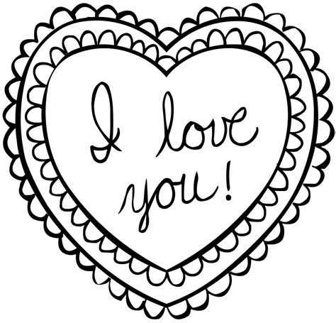 Coloring Pages For Valentines Cards   Kids Coloring