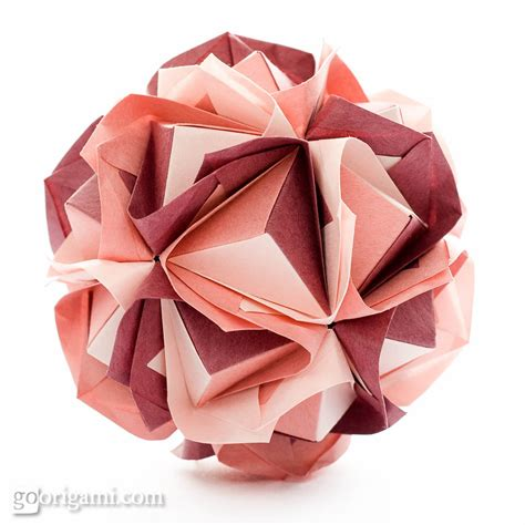Origami Kusudama - clover kusudama by sinayskaya diagram go origami