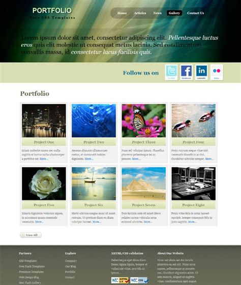 web templates for articles designs article free xhtml css templates for different