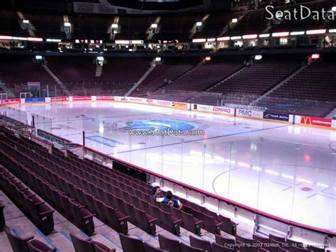 section 106 rogers arena plaza level center rogers arena hockey seating