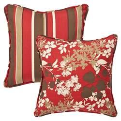 Toss Pillows Pillow Outdoor Brown Floral Stripe Toss