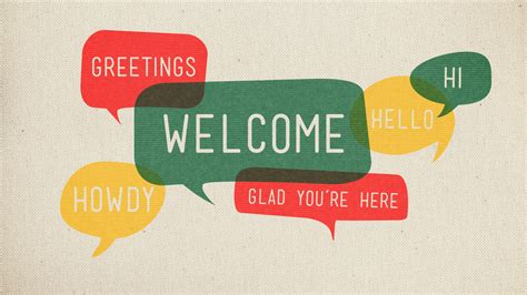 church welcome message