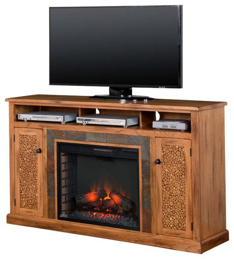 sedona fireplace media console southwestern entertainment centers and tv stands by