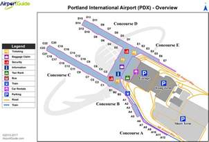 airport maps charts diagrams portland international