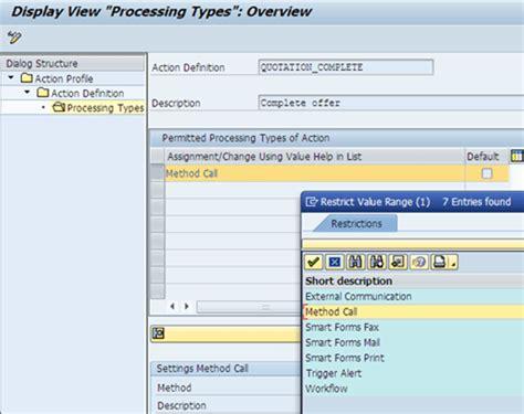 tutorial on sap crm sap crm action profile complete tutorial