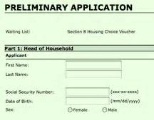 application for section 8 application