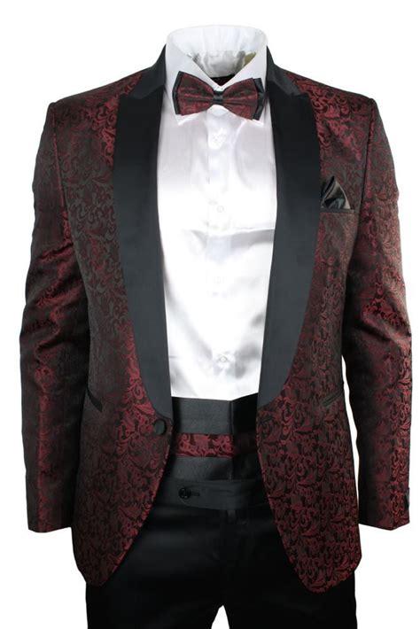black pattern suit mens maroon wine black paisley pattern suit tuxedo wedding