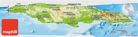 physical map of jamaica physical map of jamaica showing mountains www pixshark