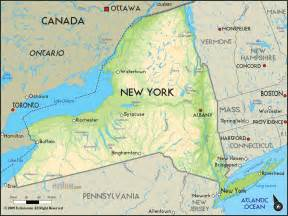 New York Map by Geographical Map Of New York And New York Geographical Maps