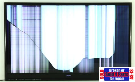 As Is Broken Vizio M3d470kde 47 034 Lcd Hd Tv 1080p For