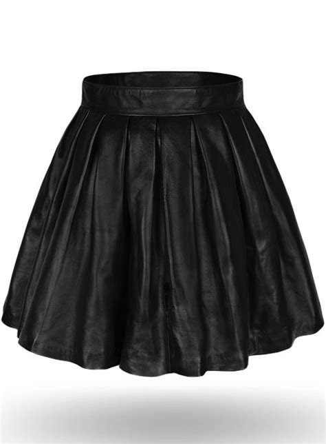 Pleated Leather Skirt [Pleated Leather Skirt] - $120