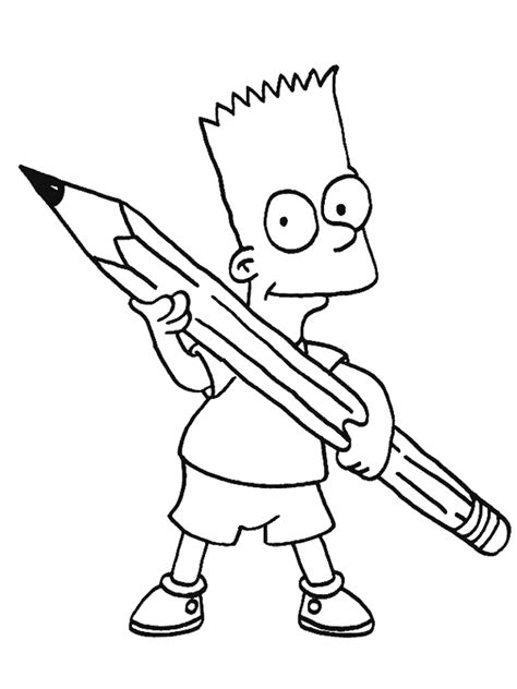 simpsons coloring pages coloringpages1001 com