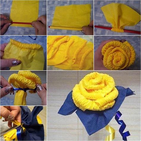 How To Make Paper Roses At Home - diy easy napkin paper roses home diy