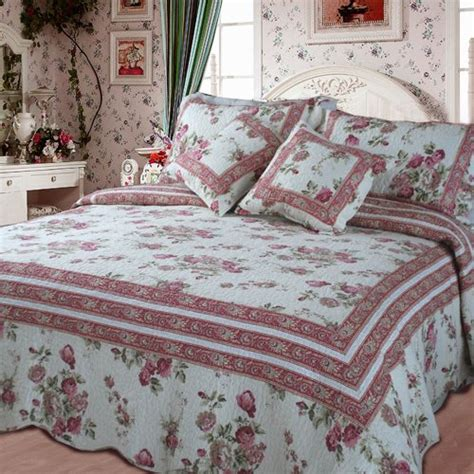 shabby chic bedding dada bedding french country cotton quilt set cal king floral 5 pieces