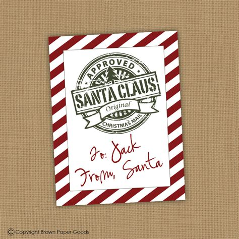 free printable gift tags signed by santa 9 best images of printable santa gift tags signed santa