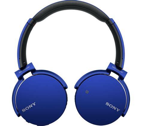 Headset Bluetooth Gblue sony mdr xb650btl wireless bluetooth headphones blue deals pc world