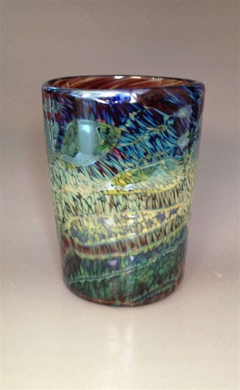 Handmade Glassware - unique glass blown glass tumbler handmade cup