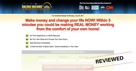 income online online income review sneaky scam or legit work at home job