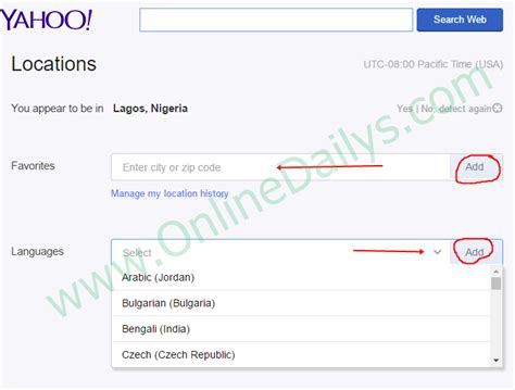 Free Yahoo Email Lookup How To Change Yahoo Mail Country Language Location Edit Yahoo Account Dailys