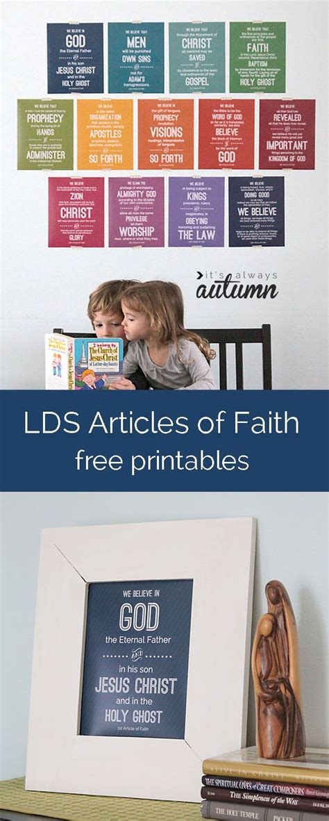 printable articles of faith lds articles of faith free printables