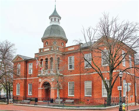 Arundel County Court Search Arundel County Court House In Annapolis 1219 Photograph By Schultz