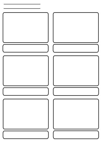 storyboard template 6 boxes 6 panel storyboard by longheads teaching resources tes