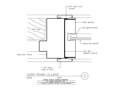 aluminum door aluminum door frame jamb detail