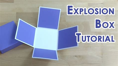 explosion box full tutorial tutorial template tealight cake explosion box youtube
