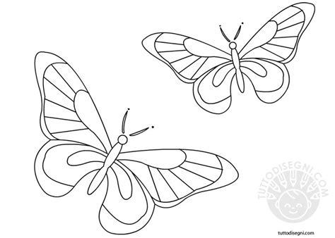 disegni di farfalle e fiori farfalle da colorare tuttodisegni