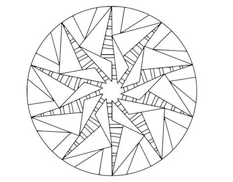sun mandala coloring page mandala triangular sun coloring page coloringcrew com