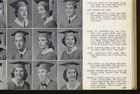 robert edward auctions  janis joplins high school yearbook