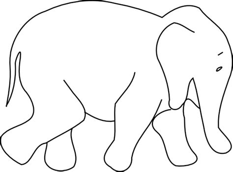 Elephant Animal Outline Clip Art At Clker Com Vector Animal Templates