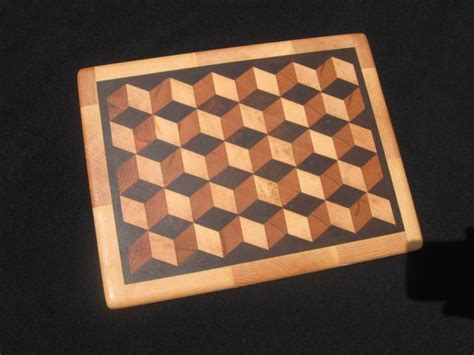 pattern wood cutting board cutting board tumbling block pattern mcpherson visions