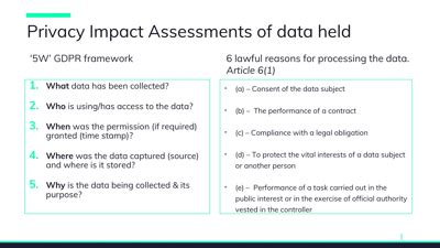 Data Protection Is Changing We Interview J Cromack Gdpr Privacy Impact Assessment Template