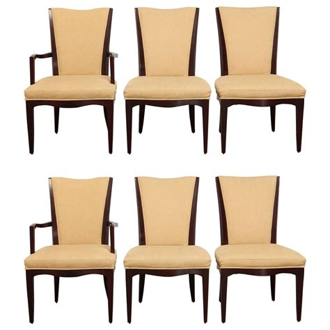 baker dining room furniture set of six mahogany dining chairs by barbara barry for