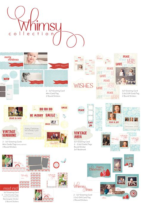 photo card templates whimsy and cheer