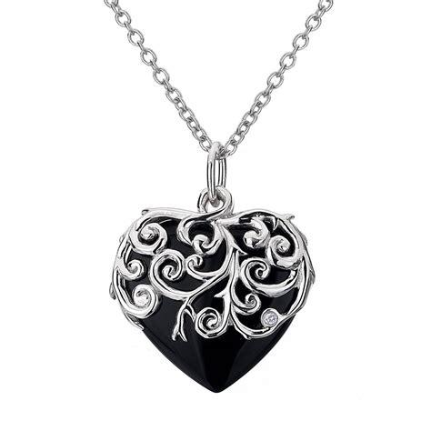 black with pendants diamonds roses pendant with black onyx
