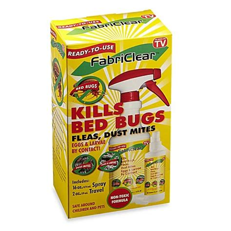 buy fabriclear bed bug flea and dust mite exterminator
