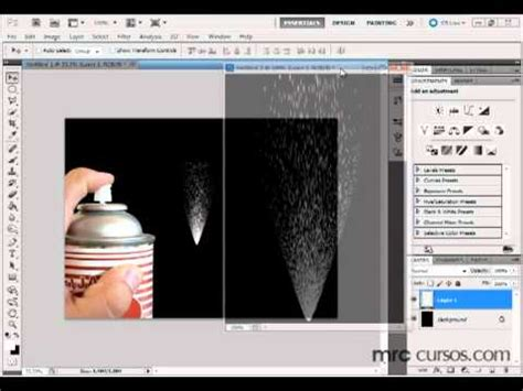 tutorial photoshop cs5 efeitos photoshop cs5 tutorial realizando um efeito spray youtube