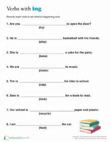Second grade reading amp writing worksheets present tense for kids
