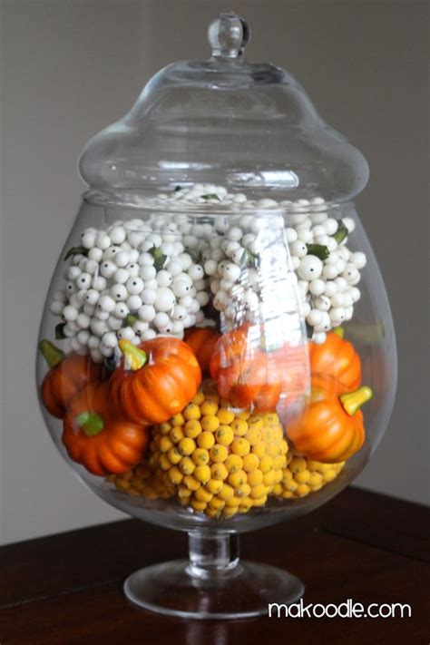 decorating with jars for fall corn fall apothecary jar decor thanksgiving