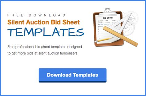Silent Auction Bid Cards Template by The Ultimate List Of 100 Silent Auction Item Ideas