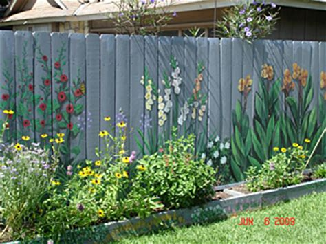 Backyard Wall Painting Ideas Decorate Your Fence Photos For Ideas And Inspiration