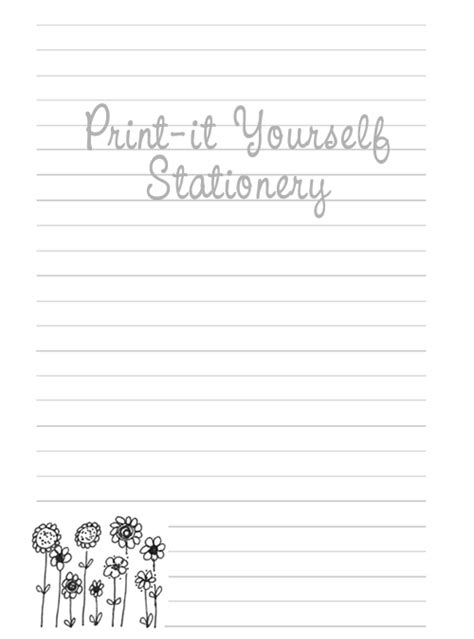 printable stationery note paper 5 best images of free cute printable note paper free