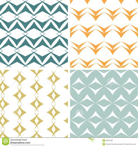 abstract patterns arrows seamless pattern stock four abstract arrow shapes seamless patterns set stock