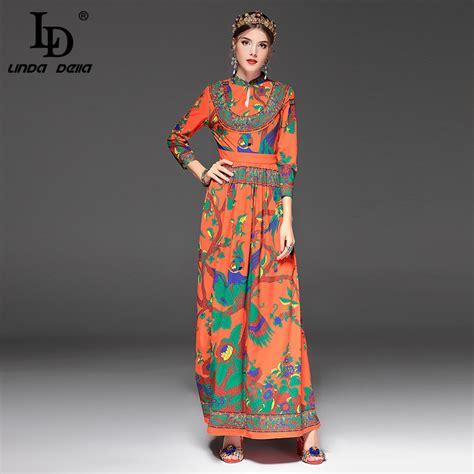 high quality new 2017 fashion designer runway maxi dress