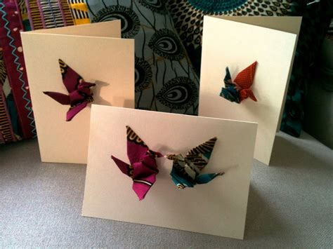 Origami Crane Card - handmade origami crane pop up greeting card invitasjoner